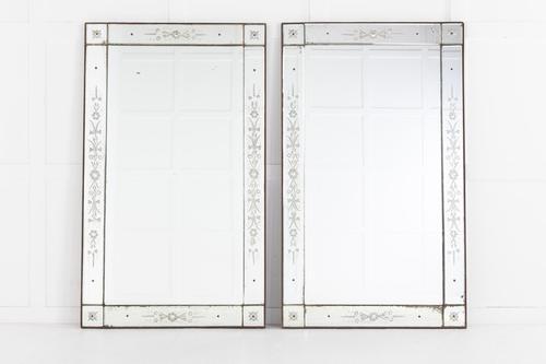 Pair of 19th Century French 'Venetian' Mirrors (1 of 8)