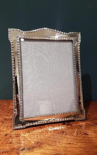 Large Antique Chester Silver Photo Frame (1 of 5)