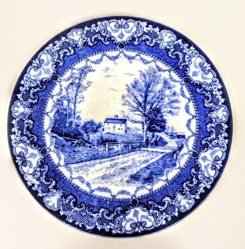 Doulton Burslem  Commemorative Plate - Whittier's Birthplace c.1895 (1 of 9)