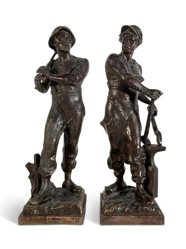 Pair of Spelter Figures (1 of 4)