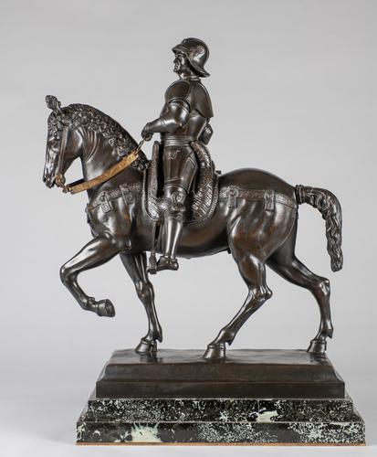 Very Large Stunning 19th Century Equestrian Bronze Sculpture of Bartolomeo Colleoni (1 of 20)