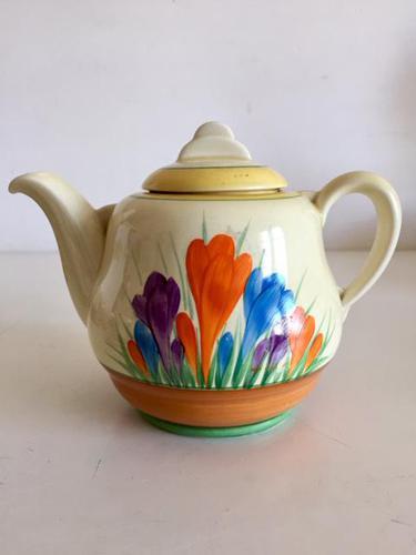 Clarice Cliff Bizarre  Autumn Crocus Tea Pot, Art Deco (1 of 10)