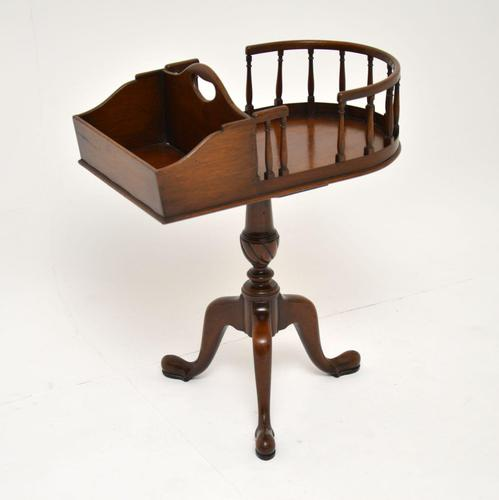 Antique Chippendale Style Mahogany Side Table (1 of 9)