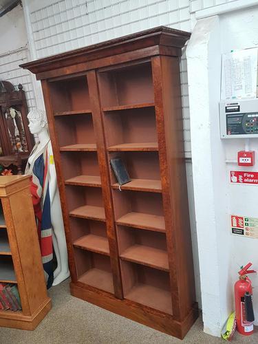 Victorian Walnut Open Bookcase (1 of 3)