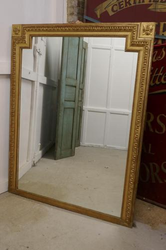 Very Large French Gilt Over Mantle Mirror (1 of 7)
