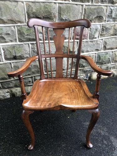 Antique Mahogany Windsor Style Country Armchair (1 of 7)