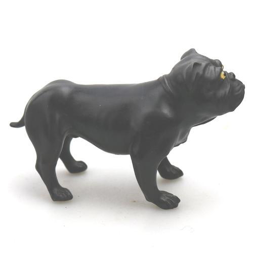 Ernest Light : A Scarce Wedgwood Black Basalt Bulldog C.1913+ (1 of 10)