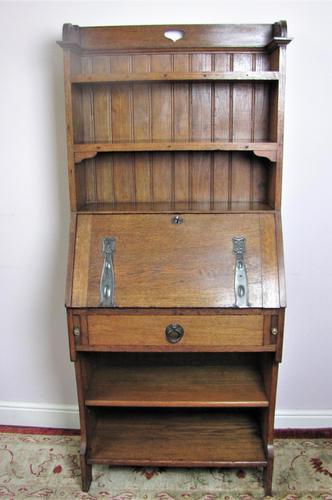 Arts & Crafts oak bureau bookcase (1 of 9)