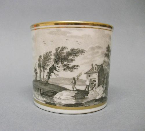 Spode Bat Printed Coffee Can, c.1810 (1 of 4)