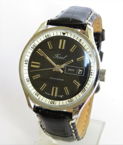 Gents 1970s Ferel Calendar Wrist Watch (1 of 5)