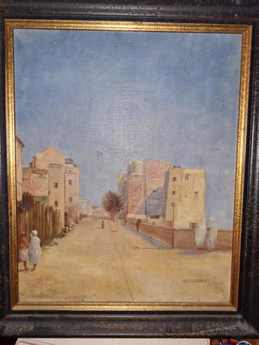Impressive French Orientalist Painting Oil on Canvas 'attr. Albert Rigolot' (1 of 12)