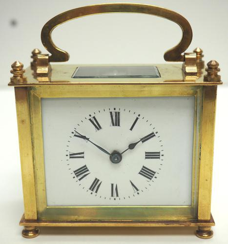 Fine Antique French 8-day Rectangle Carriage Clock Mantel Timepiece c.1890 (1 of 10)