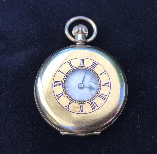 Watch Pocket Half Hunter Gold Plated (1 of 6)