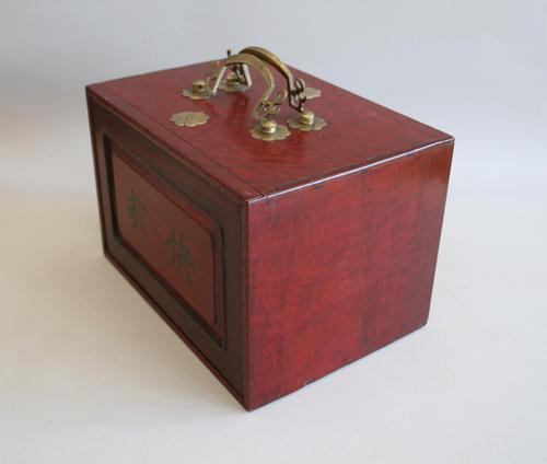 Mah Jong Set in a Decorative Wooden Box (1 of 16)