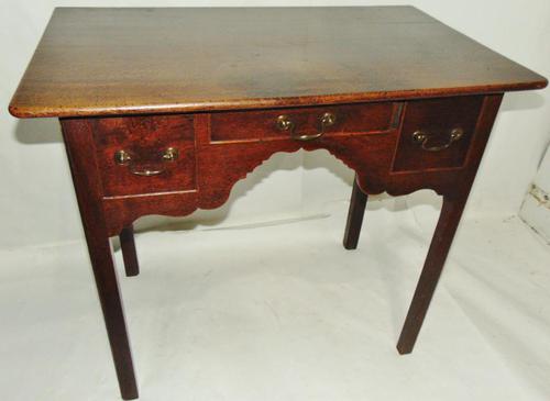 George III Oak 3 Drawer Lowboy (1 of 7)