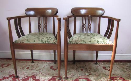 Pair of Edwardian Tub Chairs (1 of 5)