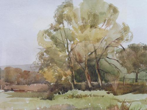 Watercolour Autumn in Wiltshire by Ronald Birch (1 of 10)