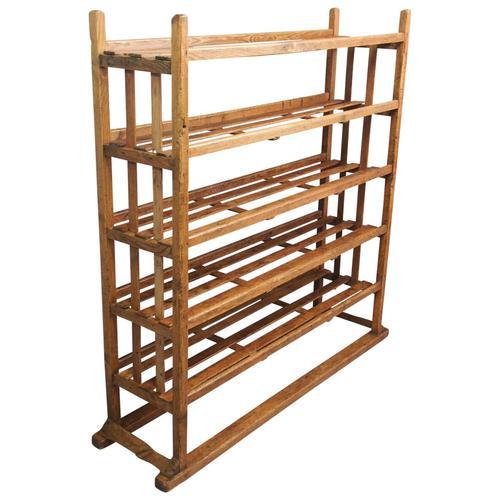 Victorian Industrial Pine Deed Rack / Wool Rack (1 of 10)