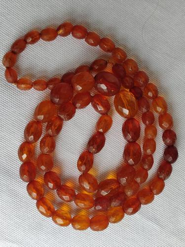 Antique Graduated Faceted Amber Beads Necklace 26 gr for Spare or re Stringing (1 of 11)