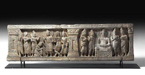 Gandharan Frieze Section with Buddha (1 of 4)