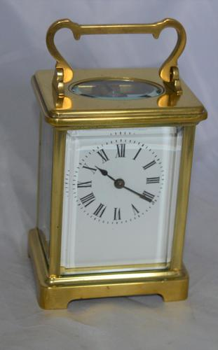 French Brass Cased Carriage Clock Roman Numerals (1 of 5)