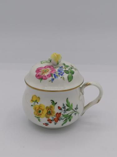 Meissen Porcelain Chocolate Cup / Meissen Porcelain Covered Cup (1 of 4)