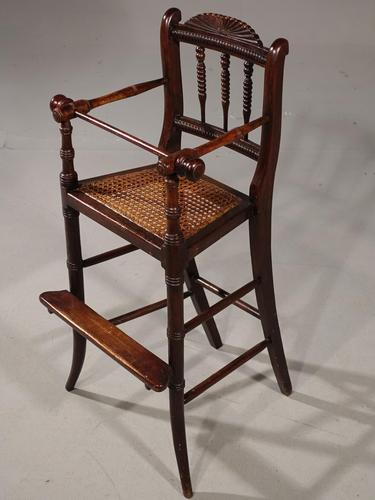 Attractive Late 19th Century Child's High Chair (1 of 5)