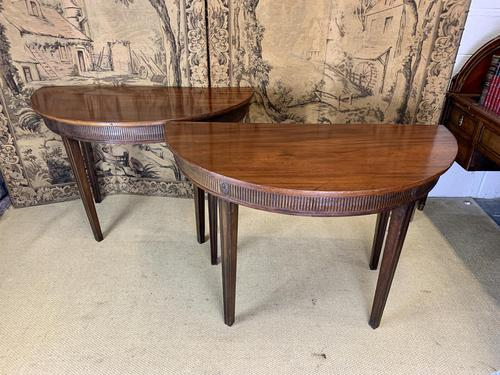 Pair of 19th Century Mahogany Console Tables with Carved Decoration (1 of 8)