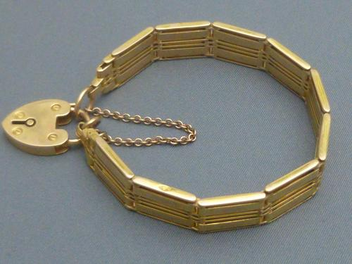 Edwardian 15ct Gold Bracelet (1 of 7)