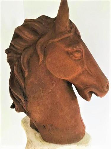 Vintage Cast Iron Horse Head - Large & Heavy (1 of 2)
