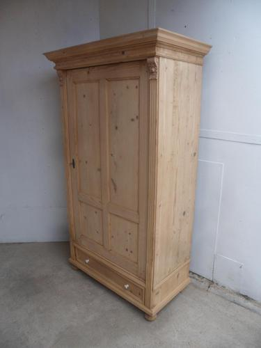 Lovely Victorian Antique Pine 1 Door Kitchen Storage Cupboard to wax / paint (1 of 10)