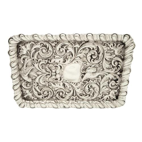 Antique Edwardian Sterling Silver 'Birds' Dressing Tray 1906 (1 of 10)