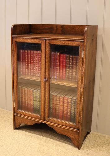 Small Proportioned Oak Glazed Bookcase (1 of 11)