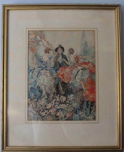 Vintage Original Watercolour - poss. Book Illustration - Yvonne Hind (1 of 8)