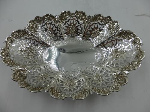 Antique Victorian Silver Dish Sheffield 1897 (1 of 5)