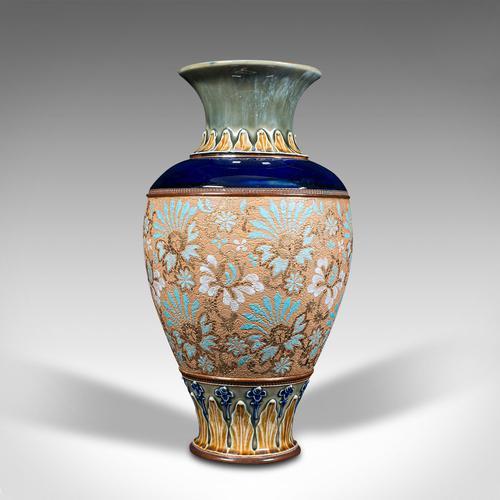 Antique Decorative Vase, English, Ceramic, Display, Art Nouveau, Edwardian, 1910 (1 of 12)
