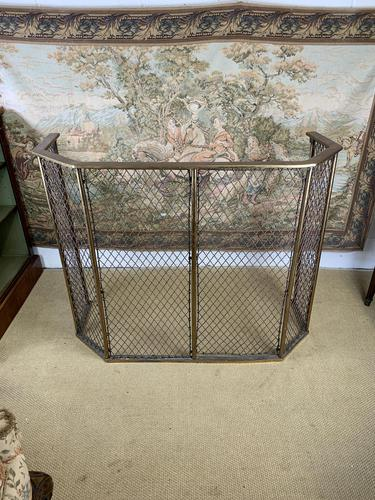 Victorian Solid Brass Fire Guard (1 of 5)