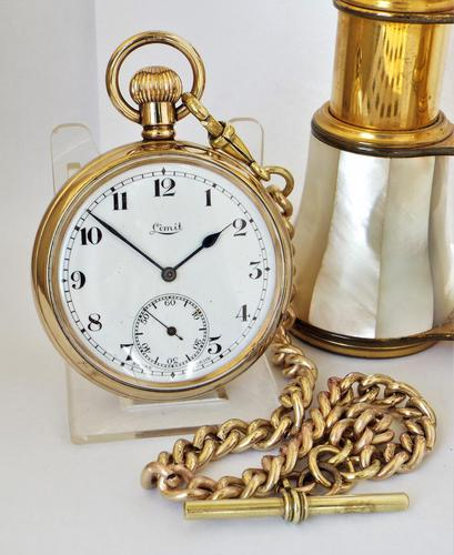 1920s Limit Pocket Watch & Chain (1 of 5)