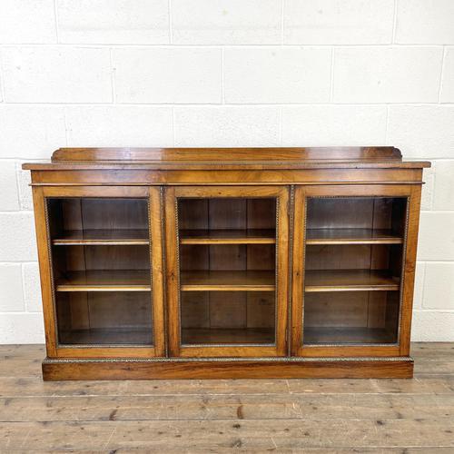 19th Century Glazed Walnut Bookcase (1 of 14)