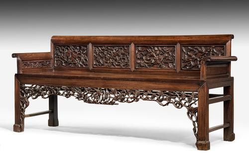 Mid 19th Century Chinese Hardwood Sofa (1 of 9)