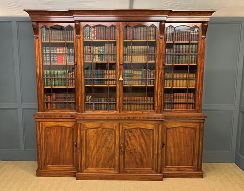 William IV Mahogany Breakfront Bookcase (1 of 15)