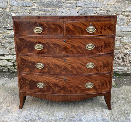 Regency Flame Mahogany Bow Front Chest of Drawers (1 of 17)