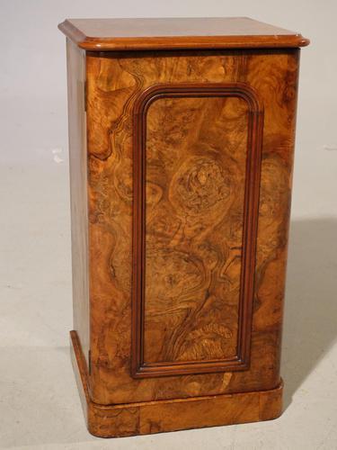 A Beautifully Figured Mid 19th Century Walnut Cupboard (1 of 3)