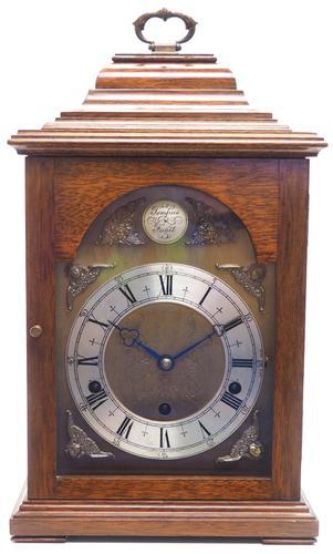 Fine Vintage Caddy Top Mantel Clock Dual Musical Bracket Clock by Elliott (1 of 13)
