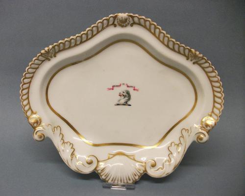 Chamberlain's Worcester Armorial Dessert Dish c.1820-1830 (1 of 6)