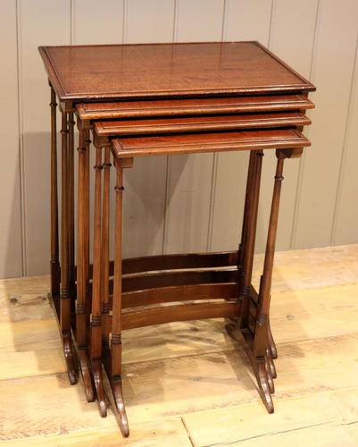 Mahogany Nest of Four Tables (1 of 11)