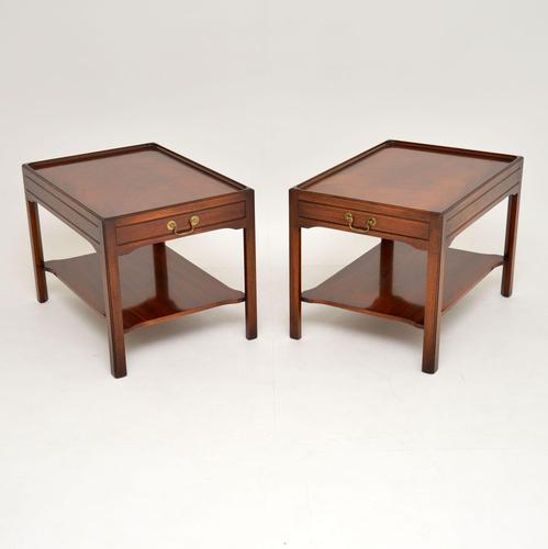 Pair of Georgian Style Mahogany Side Table c.1950s (1 of 12)