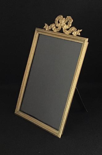 Late Victorian Gilt Brass Easel Photo Frame (1 of 5)