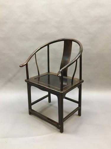 Chinese Horseshoe Throne Chair (1 of 6)