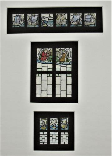 Florence Camm, Watercolour Stained Glass Window Design, Story of Undine c.1930 (1 of 5)